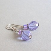 Entice Czech Glass, Swarovski Crystal and Sterling Silver Earrings