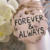 Wedding Bouquet Charm Forever and Always - READY TO SHIP