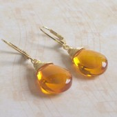 Glow Glass and 14K Gold-Plated Earrings