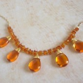 Glow Baltic Amber, Glass and 14K Gold-Filled Necklace