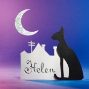Black Cat Silhouette, Place Cards