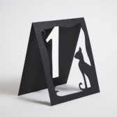 Black Cat Silhouette, Table Numbers