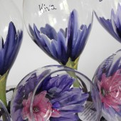 Custom design hand painted bridal party wine glasses