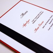 Black and Red Layered Menu