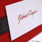 Black and Red Layered Place Card