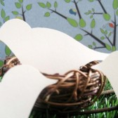 Bird place card