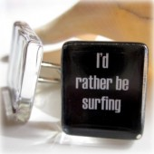 Surfing cuff links