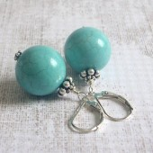 Impact Magnesite and Sterling Silver Earrings