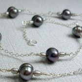 Interlude Freshwater Pearl and Sterling Silver Necklace