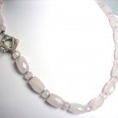 Persuasion Rose Quartz and Sterling Silver Necklace