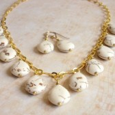 Precipice Magnesite and 14K Gold Plated Necklace
