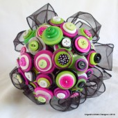 Disco Mama Button Bouquet