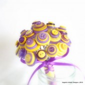 Purple & Yellow Button Bouquet
