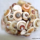 Sandy Beach Button Bouquet Wedding