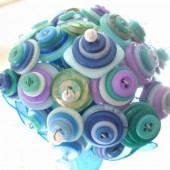 Sea form blue green bridal bouquet