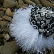 Bling & Feather Button Bouquet