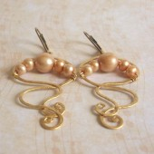 Tempest Freshwater Pearl and 14K Gold Filled Earrings