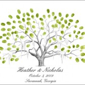 Live Oak Wedding Thumbprint Tree