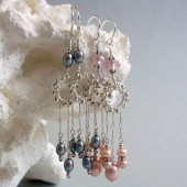 Whirlwind Freshwater Pearl and Sterling Silver Earrings