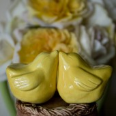 yellow bird cake topper