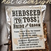 Birdseed Tossing TAGS