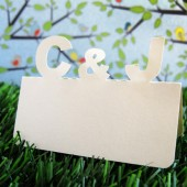Custom Initial Place cards
