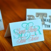 Custom Monogram Place Cards