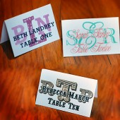 Custom Monogram Place Cards - With Your Guest\'s Names On Them