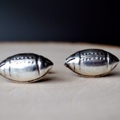 football cufflinks groomsmen