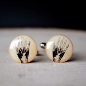 heart and heart cufflinks