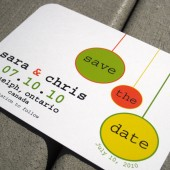 Hip Circles Save the Date card