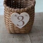 Adirondack Pack Basket Table Numbers