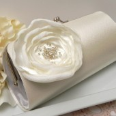Ivory Bridal Flower Clutch