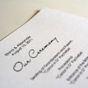 Pure Elegance Wedding Program