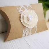 Rustic Themed Pillow Boxes