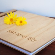luke loves lilly engraved names guest book