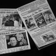Mini Newspaper Wedding Program