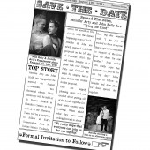 Newspaper Style Save The Date