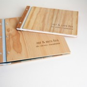 custom engraved wedding album and guest book