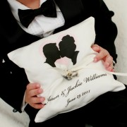 Custom Silhouette Ring Bearer Pillow