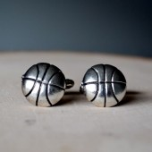 basketball cufflinks groomsmen