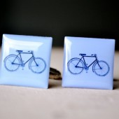 bike cufflinks groomsmen