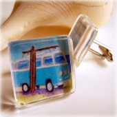 Surf bus cuff links