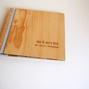 custom engraved wedding album