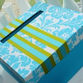 turquoise wedding car box