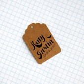 Personalized kraft favor tags