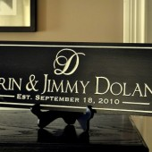 Personalized Carved Family Name Sign 7x20