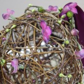 Rustic Pomander - Pew Decoration - Flower Girl Alternative