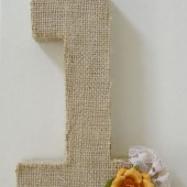 Burlap wrapped table numbers