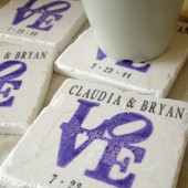 LOVE Coaster Wedding Favors